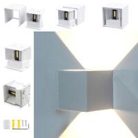 LED Lámpara Pared Exterior Luz Aplique Blanco IP44