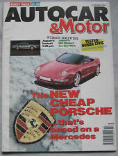 AUTOCAR magazine 8/1/1992 featuring Jaguar XJR-S, Suzuki Cappuccino, Porsche