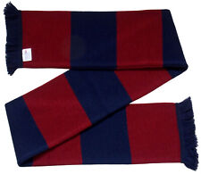 Claret and Navy Retro Bar Scarf  - Made in the UK