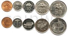 MALAYSIA 5 COINS SET 2005-2011 UNC (#1066)