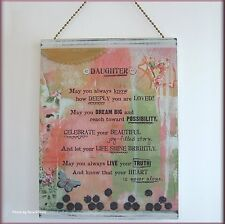 DAUGHTER PLAQUE WITH EASEL BY KELLY RAE ROBERTS FREE U.S. SHIPPING