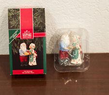 1991 GIFT EXCHANGE MR & MRS CLAUS HALLMARK CHRISTMAS ORNAMENT MIB