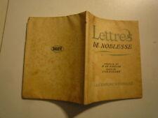 CURNONSKY LETTRES DE NOBLESSE ILLUS E LEGRAND EDITIONS NATIONALES PARIS 1935