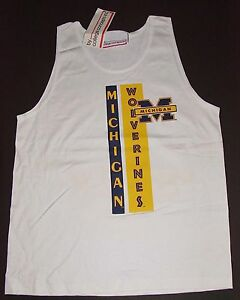 Vintage 80s/90s Michigan WOLVERINES TANK T-Shirt CollegeConcepts NWT NEWOldStock