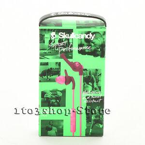 Skullcandy XTplyo Sports Stereo In-Ear Buds Headphones w/Mic Headset Plum/Pink