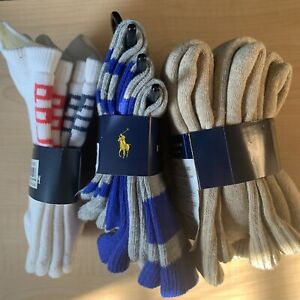 NWT Polo Ralph Lauren 3 Multipack Toddlers Socks Size 4-7 (8 Pairs Total)