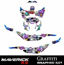 Maverick X3 Graphic Kit Can-Am sticker Decals CamAm UTV SXS Wrap 17 -19 GRAFFITI