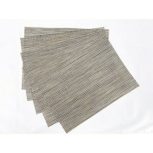 """Chilewich Basketweave Rectangular Placemats in Silver 14"""" W x 19"""" L (5)"""