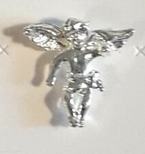 Plate, Made in Usa by Osc, New Guardian Angel Classic Lapel Pin, Sterling Silver