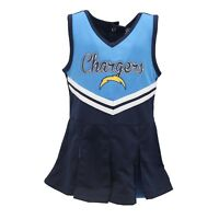 Los Angeles Chargers NFL Infant Toddler & Youth Cheerleader Outfit with Bottoms