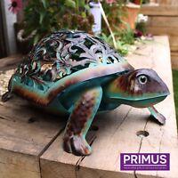 Primus Hand Crafted Metal Solar Tortoise Light Decorative Garden Animal Ornament