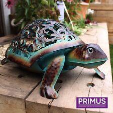 Hand Crafted Metal Solar Tortoise LED Light Decorative Garden / Patio Ornament