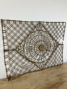 Decorative Architectural Metal Panel With Remains Of Original Paint