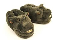 Hippo Slippers - Gray Animal Slippers - Adult and Kids Sizes In Stock