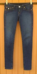 Women's True Religion Jeans Julie Flap Pocket Skinny Size 29 DARK WASH