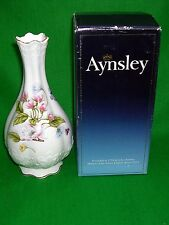 """Aynsley 'Natures delight' 7"""" Victorian Bud Vase Boxed"""
