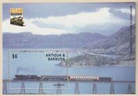 ANTIGUA & BARBUDA 2004 STEAM TRAIN BICENTENARY $6 MINIATURE SHEET MNH