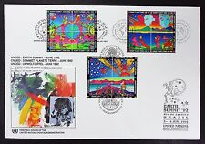 First Day Cover united nations bloc enveloppe Earth summit 92 (i-4303+