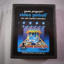 VIDEO PINBALL - Tested Working Atari 2600 Game Cartridge