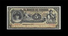 1897-1911 BANK OF MEXICO 5 PESOS **SONARA** (( GEM UNC ))