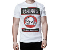 Conqueror War Cult Supremacy 2002 Skull Logo Inspired White T-Shirt