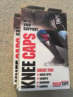 1 Set (2) Rocktape Kneecaps - Knee Support, Squats, CrossFit - All sizes/colors