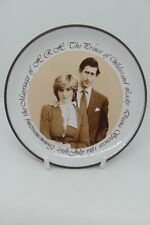 Hornsea Pottery Charles & Diana Wedding Trinket Dish Brown Sepia British