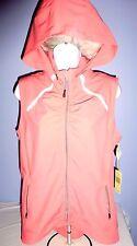 Women's Tangerine Light Coral Active Full Zip Hooded Vest M NMT
