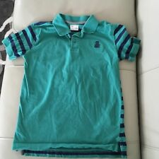 Gap Kids Boys Green Blue Striped Collared Shirt Boys L 10 11 GUC