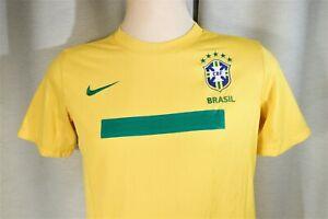NIKE Dri-Fit CBF Brasil Brazil Soccer Football Jersey Youth XL  Near Mint!