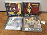 Tomb Raider Bundle 1 2 3 Last Revelation - Playstation 1 PS1 - N3