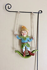 Pixie On A Swing Garden Stake 18 In.H Includes One Only Resin Metal Stake #1 New