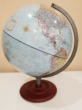 """New ! 12"""" Waypoint Geographic Globe Executive Blue/Silver"""