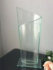 Lovely Modern Oval Decorative Shabby Chic Clear Glass Art Vase Home