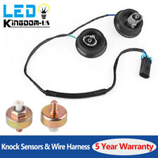 2x Knock Sensor with Harness Pair Kit Set for 2001-2007 Chevy Express 1500 GMC