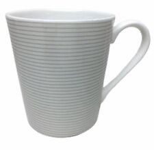 Mikasa Cheers Striped Coffee Tea Mug Cup White Porcelain 12 oz HK279