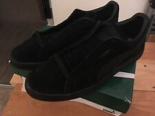 e9215cad97a1 Puma Classic Suede All black Mens Casual Shoes Sneakers Size 13