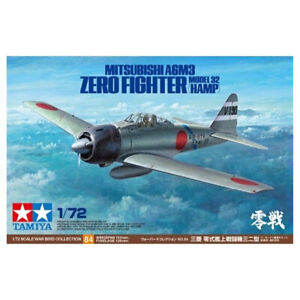 TAMIYA T60784 1/72 A6M3 ZERO MODEL 32 HAMP FIGHTER AIRCRAFT AIRPLANE WAR ARMY