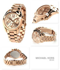 NEW MICHAEL KORS MK5799 ROSE GOLD BRADSHAW MINI LADIES WATCH UK