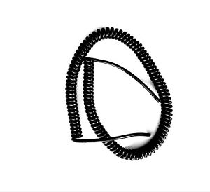"""4 CORE 0.5sqmm COILED BLACK PUR CABLE. 750mm (29.5"""") COIL LENGTH"""
