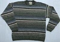 Vintage USA 90s St Johns Bay Sweater Shirt Long Sleeve Textured Mens Medium M