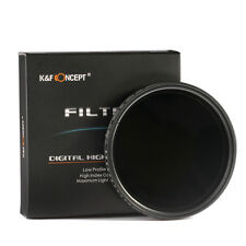 K&F Concept 58mm ND Filtro ND2 - ND400 Super Delgado Neutra Densidad Ajustable