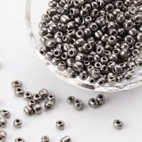 50g Opaque Gray Glass Seed Beads about 4mm for Necklaces Bracelets FREE POSTAGE