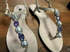 Dolce Gabbana Jewelled Slingback Sandals Slippers Shoes Sandal Shoes 40