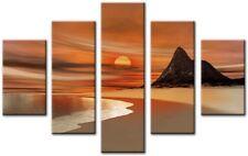 Wisk Naranja 5 piezas grandes obras de arte impresión de LONA pared arte enmarcado Hogar Sala de Estar