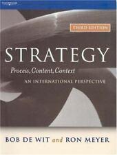 Strategy: Process, Content, Context, Bob de Wit, Ron Meyer, Good Book