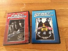 LOT OF 2 THE FAST & THE FURIOUS DVD AND 2 FAST 2 FURIOUS PAUL WALKER - LIKE NEW