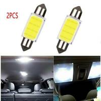 2PCS COB 39mm LED White Dome Map Light Bulbs Car Auto Interior Panel Lamp Set W