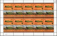 1912 London & South Western Railway (LSWR) Class D15 4-4-0 Train 20-Stamp Sheet