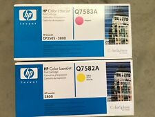 Brand New HP Genuine 503A Q7582A & Q7583A Yellow Magenta pair CP3505 3800